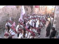 Palestinian Bagpipers in Jerusalem and Bethlehem. The West Bank wall. Church of the Nativity. West Bank Wall, Nativity Church, Christmas Destinations, Bethlehem, Jerusalem, Christmas Eve, Uni, Notre Dame, Israel