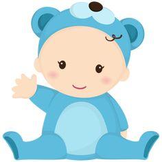 Bebe oso azul