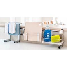 ステンレス製伸縮式シンク収納スタンド レギュラー 通販 - ディノス