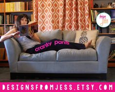 Feeling cranky? Put on your cranky pants!  These sweatpants are MENS (for extra comfyness)!     Get your cranky pants from Designs from jess now!