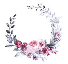 Flower Background Wallpaper, Flower Backgrounds, Background Patterns, Watercolor Flower Wreath, Floral Logo, Watercolor Drawing, Pastel Art, Flower Frame, Vintage Flowers