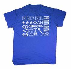 Phi Delta Theta Screen Printed T-Shirt Design #8 SALE $16.95. - Greek Clothing and Merchandise - Greek Gear®
