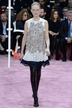 Raf Simons presented the new Christian Dior couture collection