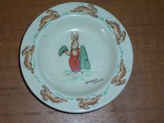 Old Royal Doulton Barbara Vernon Signed Bunnykins Pin Dish Gentlemen Rabbit  #RoyalDoulton #PinDish