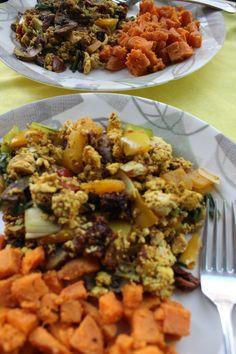 tofu scramble and sweet potato home fries