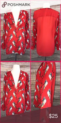 Banana R Rocking button down BR blouse, work chic street trendy. Excellent condition just not my color. Polyester size small Banana Republic Tops