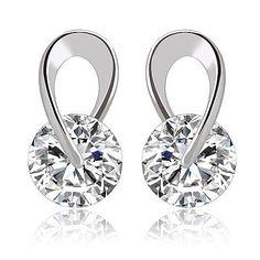 Swarovski Silver Swirl Earrings