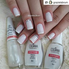 "2,458 curtidas, 24 comentários - Daiane Dias (@daiahh_dias) no Instagram: ""Simplesmente maravilhosa . . . #Repost @grazielabrum (@get_repost) ・・・ . Fiz na seguinte ordem:…"" Hair And Nails, My Nails, Nail Polish Art, Elegant Nails, Top Nail, Chrome Nails, Perfect Nails, French Nails, Short Nails"