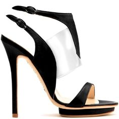 Liam Fahy leather-and-plastic sandal