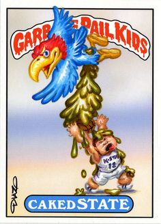 Kansas University Garbage Pail Kids by Luis Diaz Garbage Pail Kids Cards, 80 Cartoons, Kids Stickers, Kansas Jayhawks, Patch Kids, 80s Kids, Kids Board, Kids Corner, Classic Toys