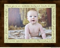 Green & Brown Woodland Photo Baptism Thank You Cards