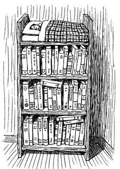 I dream of books. (illustrazione di Franco Matticchio) Repinned by Ellery Adams www.elleryadamsmysteries.com