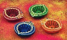 Colourful diwali home decor diyas. Price - £8.99