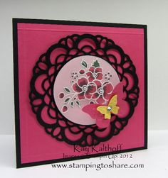 Stamping to Share: 3/23 Stampin' Up! Bordering on Romance Stained Glass with a Video Tutorial
