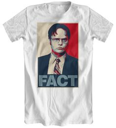 Dwight Schrute 'Fact' White T-Shirt Inspired By The Office