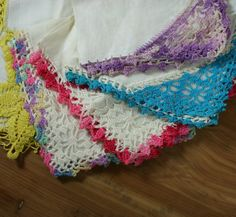 Vintage Ladies Handkerchiefs Hand by vintagefindsetcetera on Etsy, $8.00