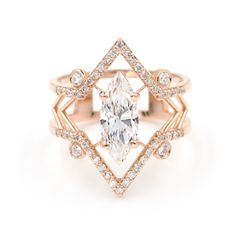 The Arrow Marquise Engagement Ring by Giacomelli Jewelry- starting at $3500 https://www.giacomellijewelry.com/collections/rings/products/the-arrow-marquise