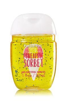 Bath & Body Works Pineapple Sorbet PocketBac Sanitizing Hand Gel | A delightful twist of iced pineapple & juicy watermelon.
