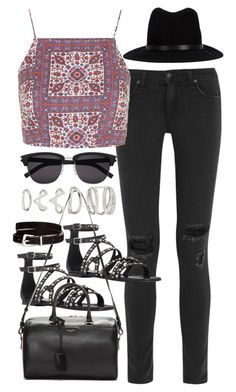 """Outfit for spring"" by ferned ❤ liked on Polyvore featuring rag & bone, Topshop, Yves Saint Laurent, Forever 21 and H&M"