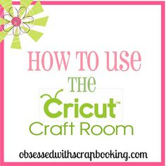 How to Export Files to the Gypsy in Cricut Craft Room  This video was so helpful to me.  Much better than any other explanation I found online.