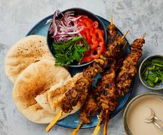 Yotam Ottolenghi's recipes for lamb shawarma and two vegetable sides Ottolenghi Recipes, Yotam Ottolenghi, Grilled Bread, Grilled Lamb, Lamb Shawarma Recipe, Lamb Recipes, Cooking Recipes, Cooking Tips, Cooking