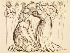 The Meeting of Dante and Beatrice in Purgatory by Dante Gabriel Rossetti
