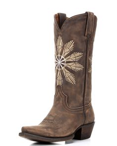 Make a wish. Unique star designs burst front and back on Eight Second Angel's Cheyenne Boot. All-leather construction, handcrafted fit, and a modern snip toe make this boot versatile enough for almost any look.