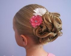 Twisted Bun Hairstyle for Little Girls via