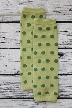 Legwarmers Green Polka Dots Baby Toddler by SweetDesignsApparel