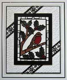Hi crafters! There are so many ways to create beautiful Stained Glass cards with these dies. Today& video shows you one idea that . Christmas Cards 2017, Christmas Tag, Xmas Cards, Christmas Projects, Diy Cards, Handmade Christmas, Handmade Cards, Window Cards, Die Cut Cards