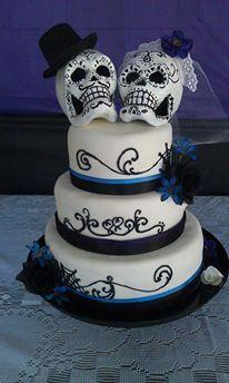 Day of the Dead Paper Mache Bride /& Groom in Car Wedding Miniature 2