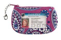 Clip Zip ID | Vera Bradley -boysenberry