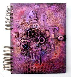 Artsy Lynn: art journal from Finnabair workshop