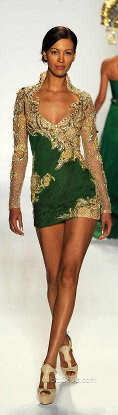 Farah Angsana Emerald and Gold Gown | Photo: Be Creative