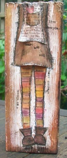 wood art with Pan Pastels