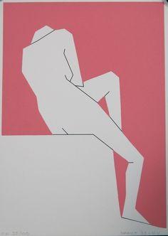Hendrik Valk: Zeefdruk, Naakt