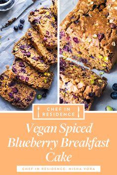 Spiced Blueberry Breakfast Cake Vegan Spiced Blueberry Breakfast Cake in residenceEasy Easy may refer to: Easy Cake Recipes, Easy Desserts, Vegan Recipes, Dessert Recipes, Cooking Recipes, Vegan Food, Vegan Ideas, Vegan Chef, Vegan Desserts