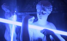aesthetic, glow, statue, tumblr, cyber ghetto, glow aesthetic ...