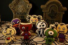 Mini New Orleans Inspired Voodoo Doll's Sugar Cookies Via CookieMamas