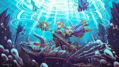 Brave Frontier - Wave Breaker Quartz by Vayreceane on DeviantArt Fantasy, Anime Fantasy, Drawings, Creative, Deviantart, Artwork, Anime, Brave Frontier, Fan Art