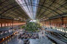 Estación de Atocha, Madrid HDR 2 -   Atocha Railway Station, Madrid (Spain).