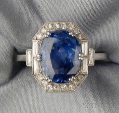 Resultado de imagen para art deco sapphire ring
