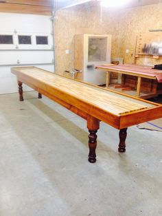 Custom Made Shuffleboard Table Www.MichaelLyonsWoodworking.com