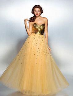 Neues Abendkleid noch nicht getragenFarbe GoldGröße 38Hinten zum schnüren