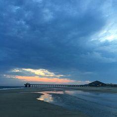 Tybee Island sunset. Wide World, Tybee Island, Summer Travel, Summer 2016, Savannah Chat, Vacations, Georgia, Beautiful Places, America
