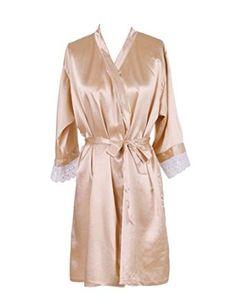 Find Dress Women's Knee-length Champagne Kimono Robe