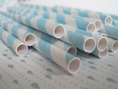 Set of 20 Paper Straws, turquoise by FoxesandFairiesCraft on Etsy https://www.etsy.com/listing/171388336/set-of-20-paper-straws-turquoise