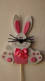 Happy Easter Easter Bunny Easter Eggs Easter Celebration Easter Crafts Crafts For Kids Easter Baskets Special Day Techno Easter Projects, Easter Crafts For Kids, Felt Crafts, Diy And Crafts, Paper Crafts, Rabbit Crafts, Diy Tumblr, Hand Made Greeting Cards, Easter Celebration