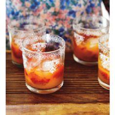 Strawberries (crushed), mint, orange juice marthastewart.com
