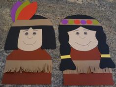 Adorable Native Americans and Pilgrims Craftivity